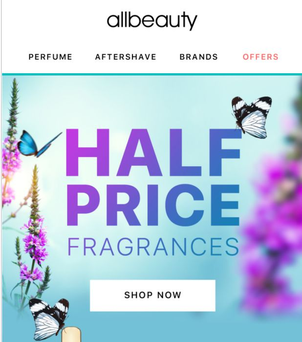 200 FRAGRANCES - NOW HALF PRICE - AT ALLBEAUTY