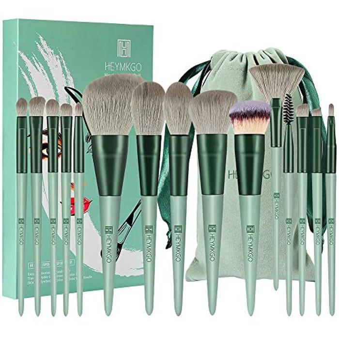 DEAL STACK - 15pcs Makeup Brush Set with Flannel Bag + 5% Coupon