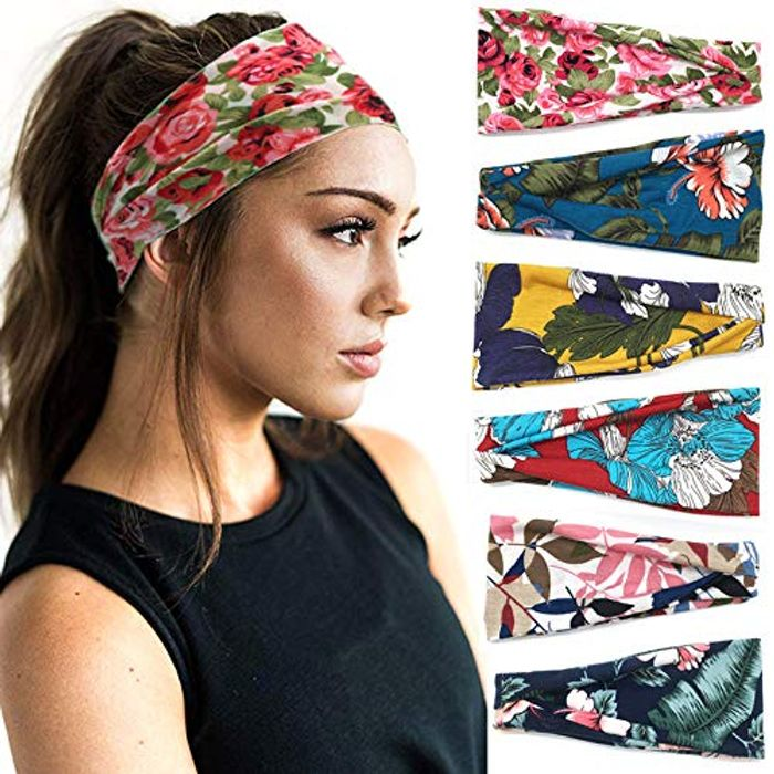 CHEAP! Pack of 6 Yoga Headbands