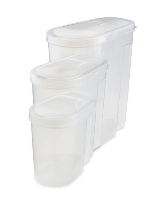 Clear Cereal Containers 3 Pack