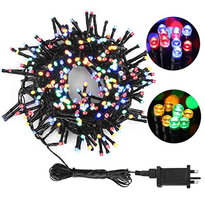 Save 60% - Multicolour 300 LED String Lights with Plug