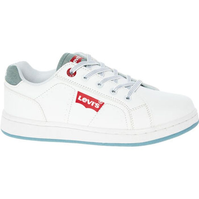 LEVIS White & Grey Dylan Trainers