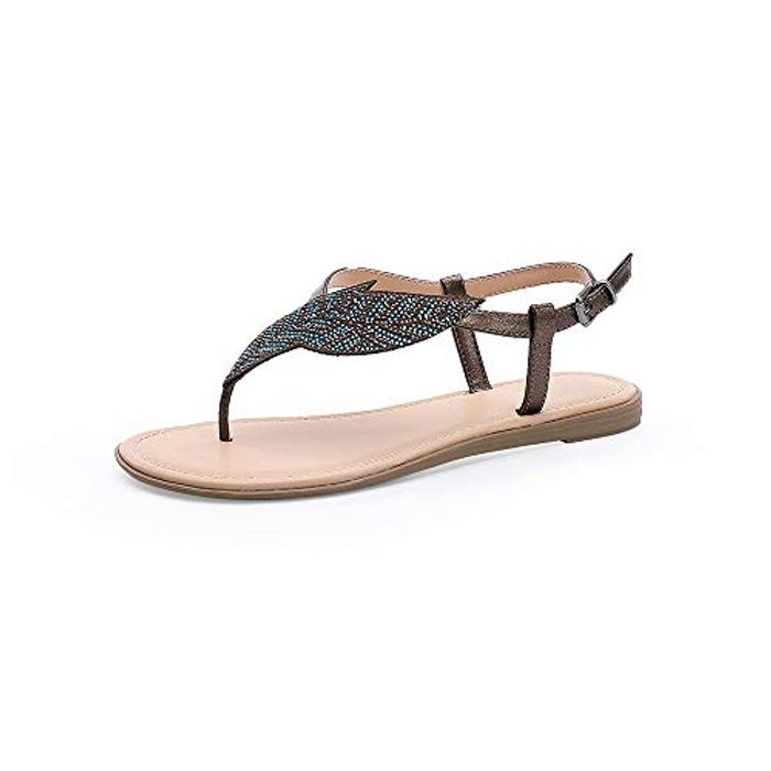 MecKiss Women's Diamante Flat Sandals (From £8.68)