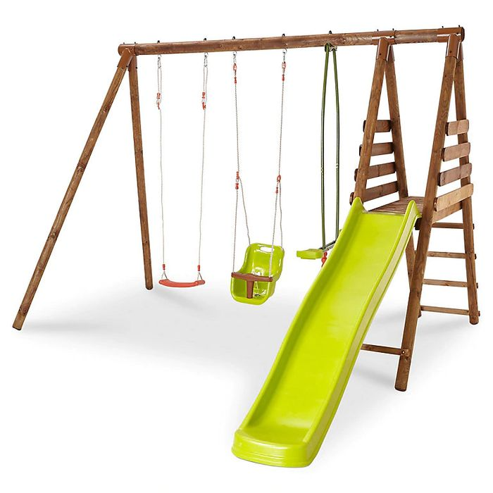 Lugano Wooden Swing Set - Only £197!