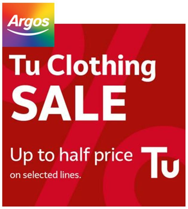 Tu Clothing Sale - up to 50% off at ARGOS - Womens, Mens, Kids, & Baby