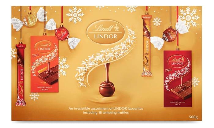 Lindt Lindor Christmas Chocolate Selection Box, 500 G - Only £10.99!