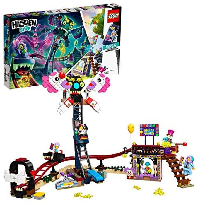 LEGO Hidden Side 70432 Haunted Fairground Set, AR Games App