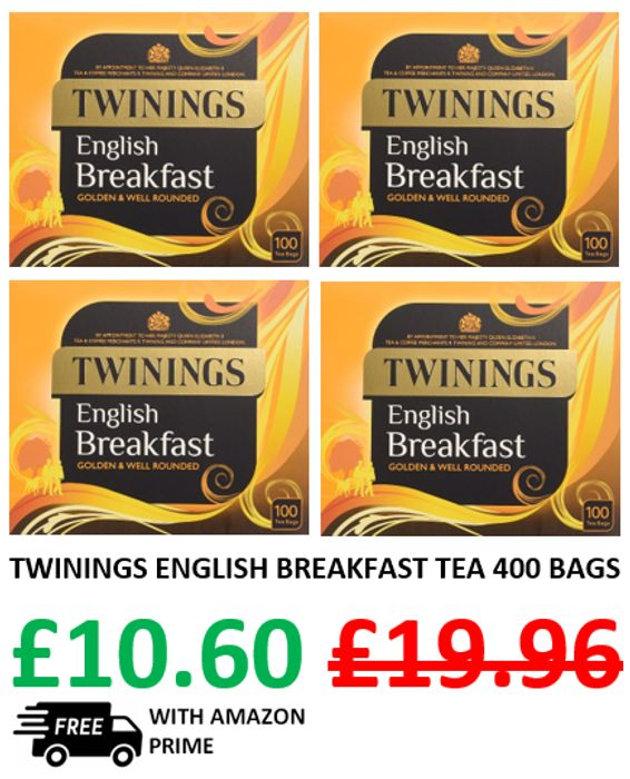 ALMOST HALF PRICE - Twinings English Breakfast Tea 400 Tea Bags