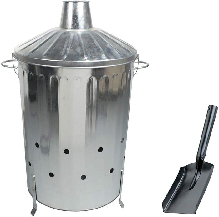 90 Litre Metal Incinerator with Free Ash Shovel