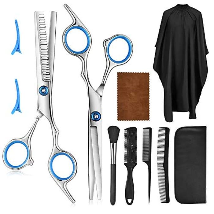 Price Drop! 10 Pcs Professional Hair Cutting Scissors Set ****4.5 Rating****