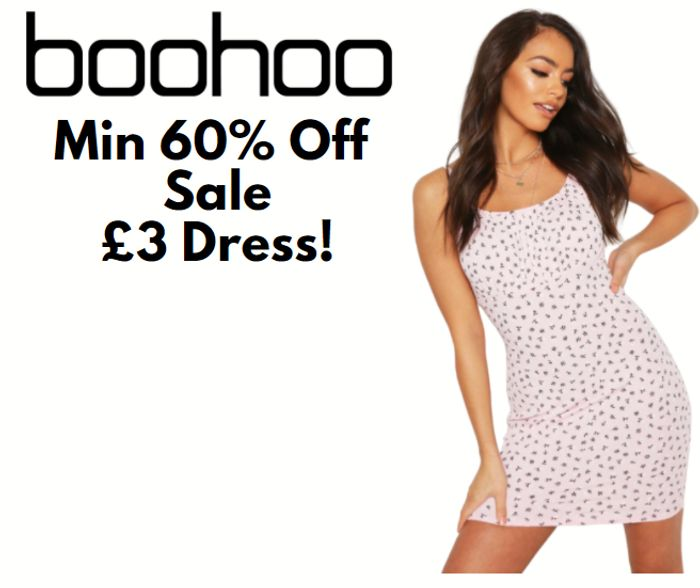 boohoo Minimum 60% Off Sale - Dresses From £3!