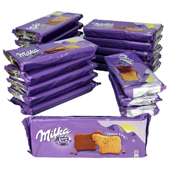 20 X Milka Choco Cow Chocolate Biscuits 120g Packs