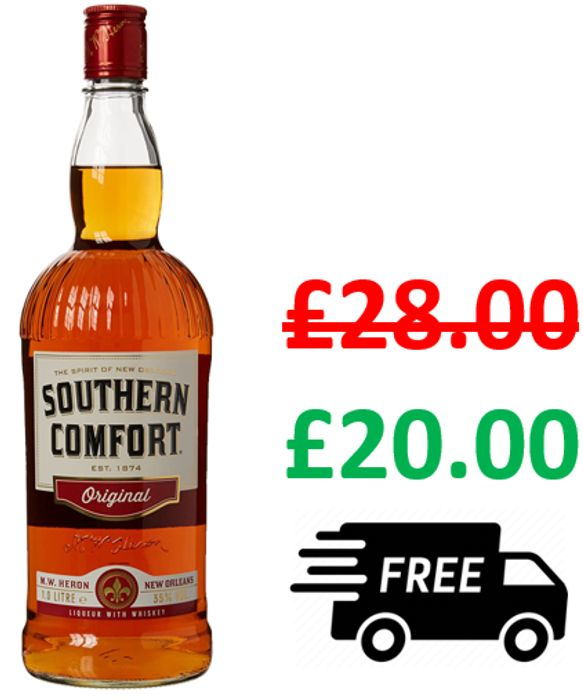 SAVE £8 + FREE DELIVERY - Southern Comfort Original, 1 Litre