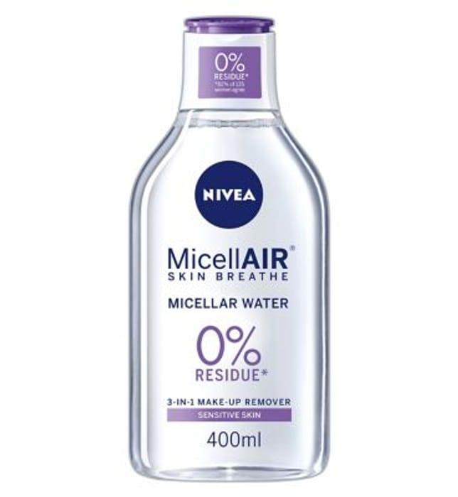 Cheap Nivea MicellAIR water,Boots - Half Price
