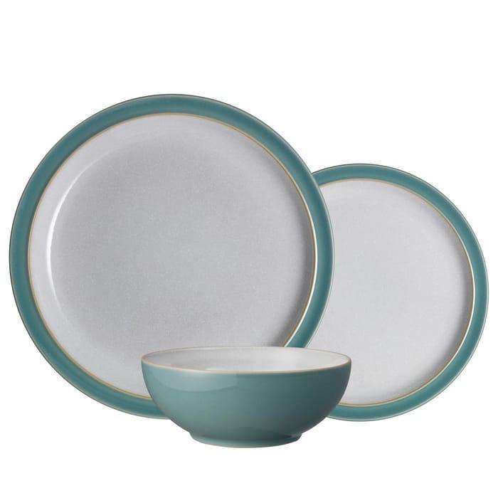 Denby - Green Stoneware 'Elements' 12 Piece Tableware Set