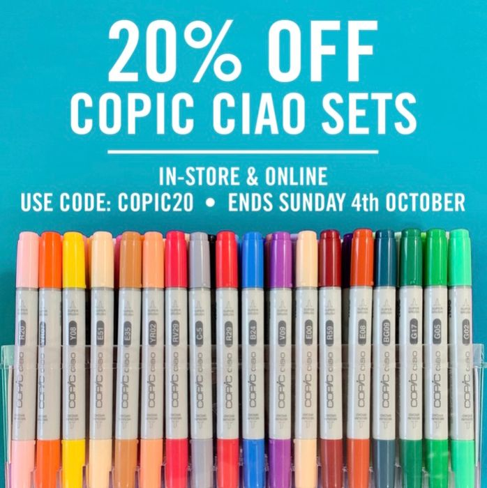 20% off All Copic Ciao Sets!