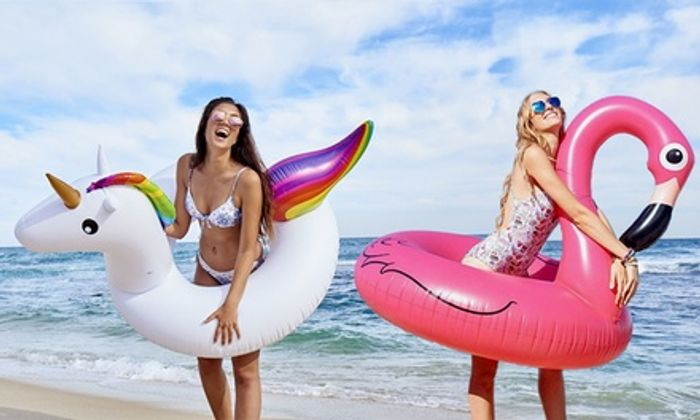 Cheap One or Two Giant Inflatable Swim Rings at Groupon