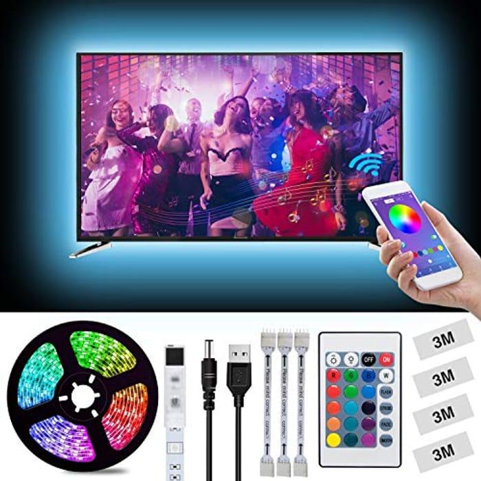 LED Strips Lights 2m/6.56ft USB TV Backlight Kit Light Strips for 40-60in