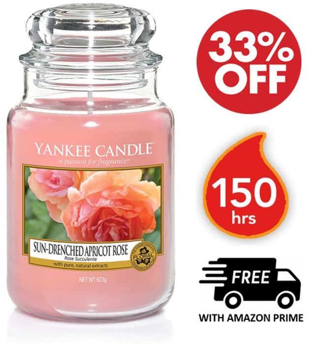 AMAZON DEAL of the DAY - Yankee Candle Large Jar - Sun-Drenched Apricot Rose