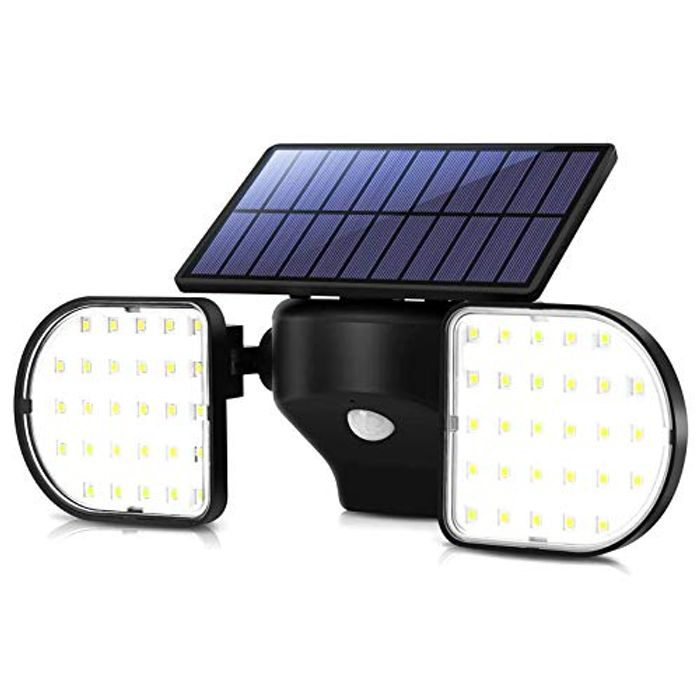 OUSFOT Outdoor Lights Solar Powered 56 LED Solar Lights - Only £14.99!