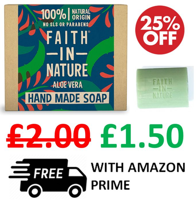 Cheap Faith in Nature - Aloe Vera Hand Made Soap Bar Only £1.50!