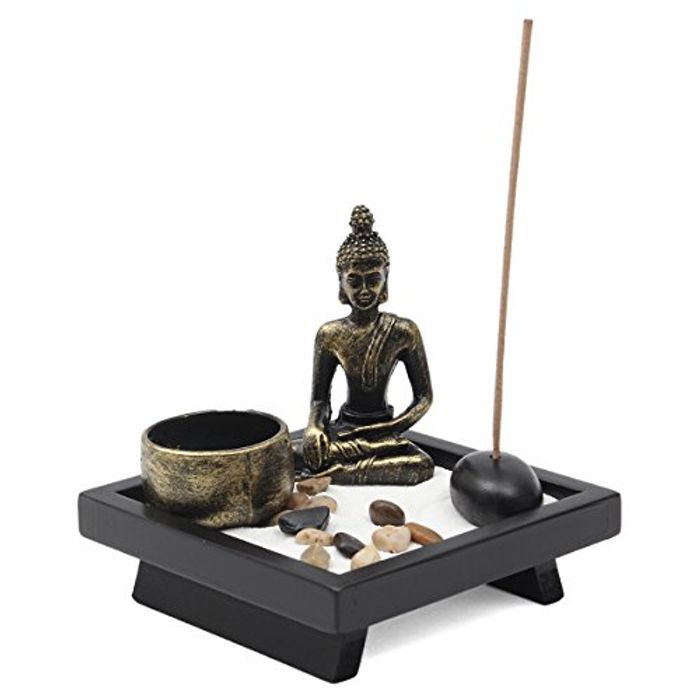 Buddha Ornament Zen Garden Candle