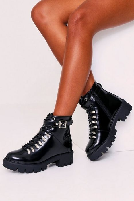 High Shine Hiker Boots