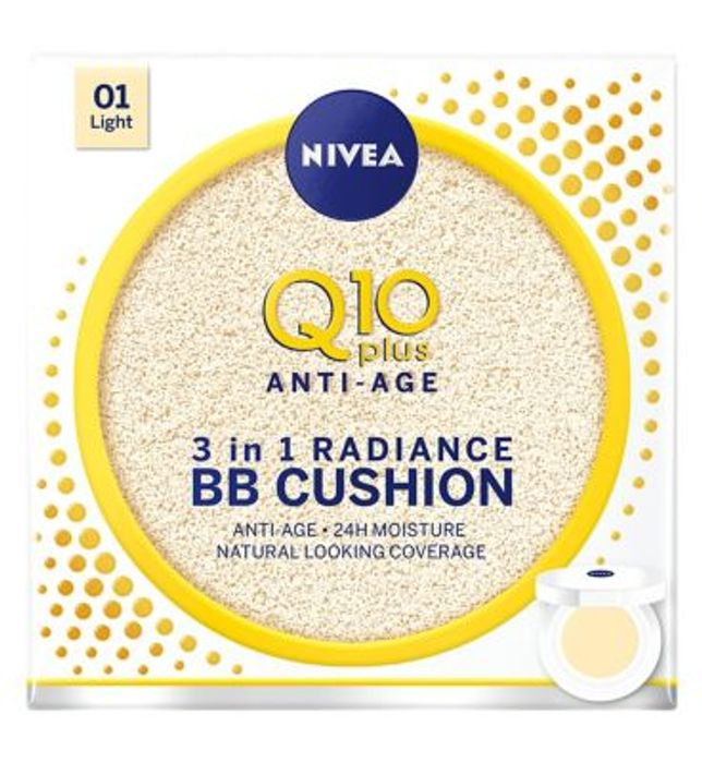 CHEAP! Nivea Q10 Anti-Ageing BB Cream Cushion Light 24hr Moisture 15g