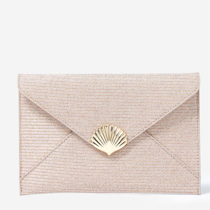 Dorothy Perkins - Pink Shell Clutch Bag