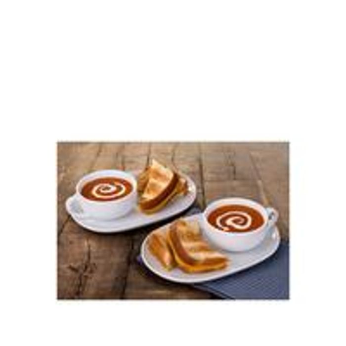 WATERSIDE Soup and Snack Trays - Set of 2