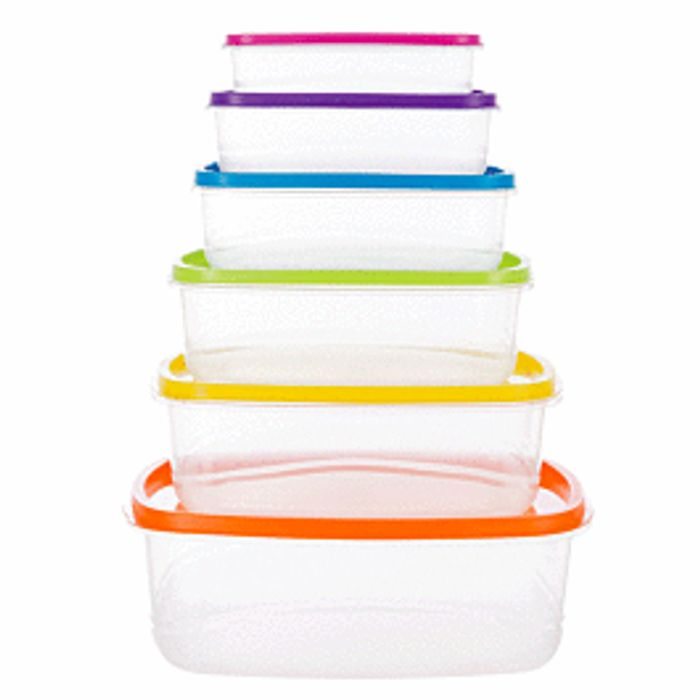 Robert Dyas Rainbow Storage Set - Pack of 6