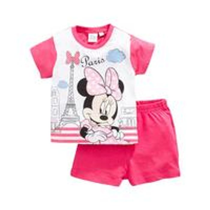 Minnie Mouse Baby Girl Minnie Mouse Paris Shortie PJs - Fuchsia