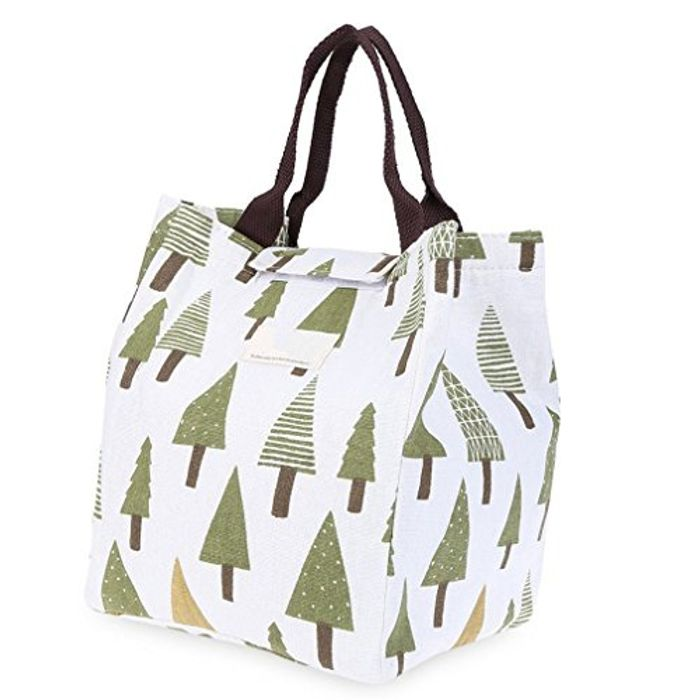 Insulated Lunch Bag / Tote Cooler Bag - Tree
