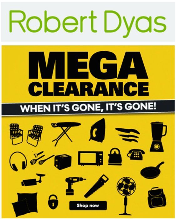 Special Offer - Robert Dyas - MEGA CLEARANCE - over 300 Items to Clear