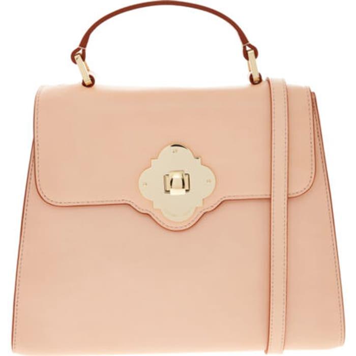 EMPORIO ARMANI Rose Leather Shoulder Bag