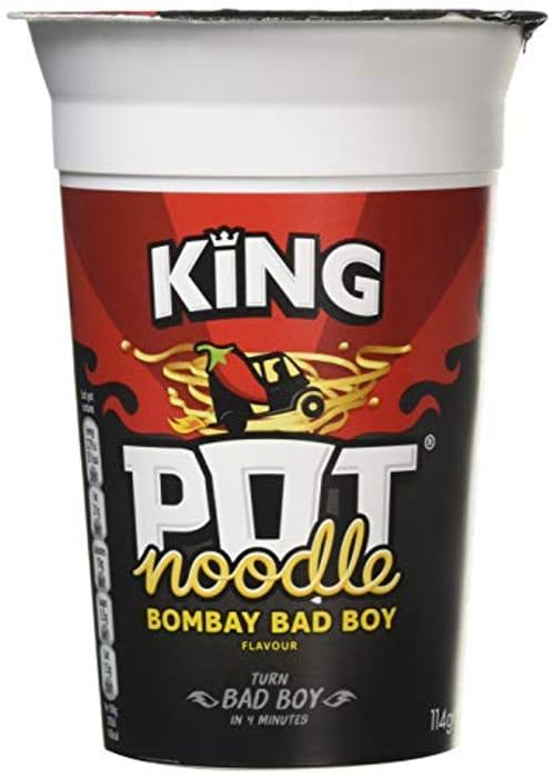 Pot Noodle Bombay Bad Boy Flavour, King Pot Size