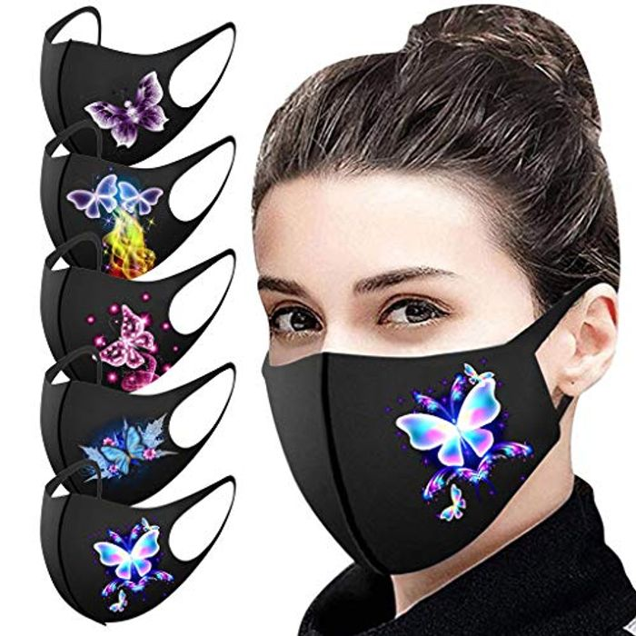 Pack of 5, Reusable Face Masks