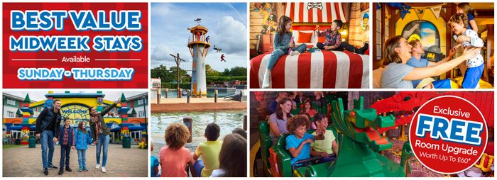 Exclusive FREE Room Upgrade worth £60 When You Book a Midweek Break at LEGOLAND