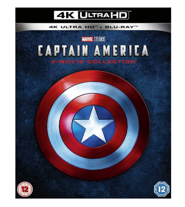 Marvel Studios Captain America 4K UHD Trilogy [4K Blu-Ray] [2019] - Only £28.99!