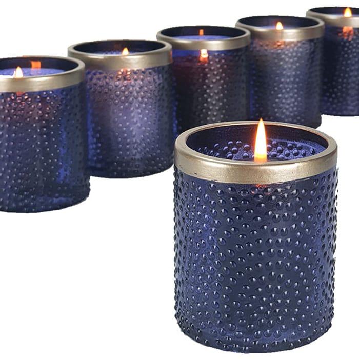 6 X Yankee Twilight Dusk Glass Votive Candle Holders