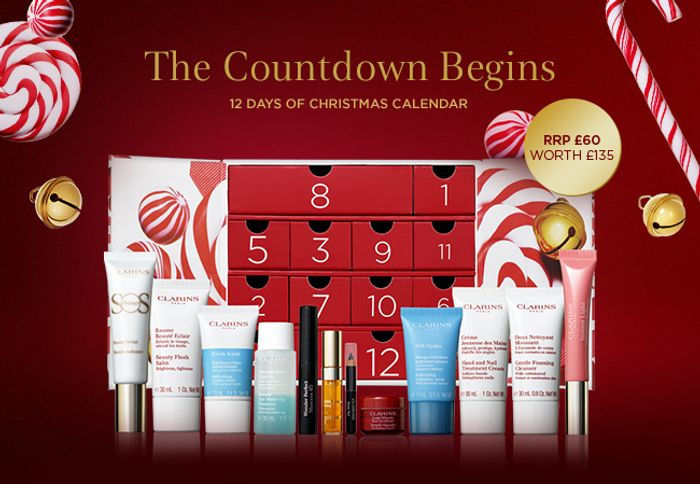 Clarins 12 Days of Christmas Calendar with a Saving of £75*.
