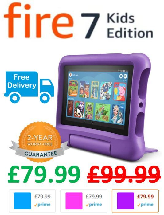Fire 7 Kids Edition Tablet - All Colours - save £20 + FREE DELIVERY