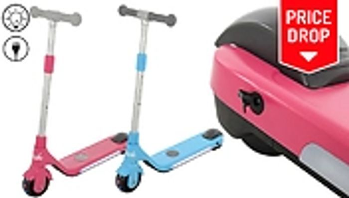 *SAVE £30* U-Move Rechargeable LED Kids' Electric Scooter - Blue or Pink
