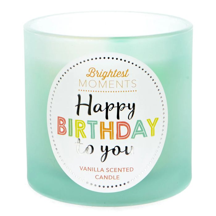 CHEAP! Brightest Moments Vanilla Scented Celebration Candle - Happy Birthday