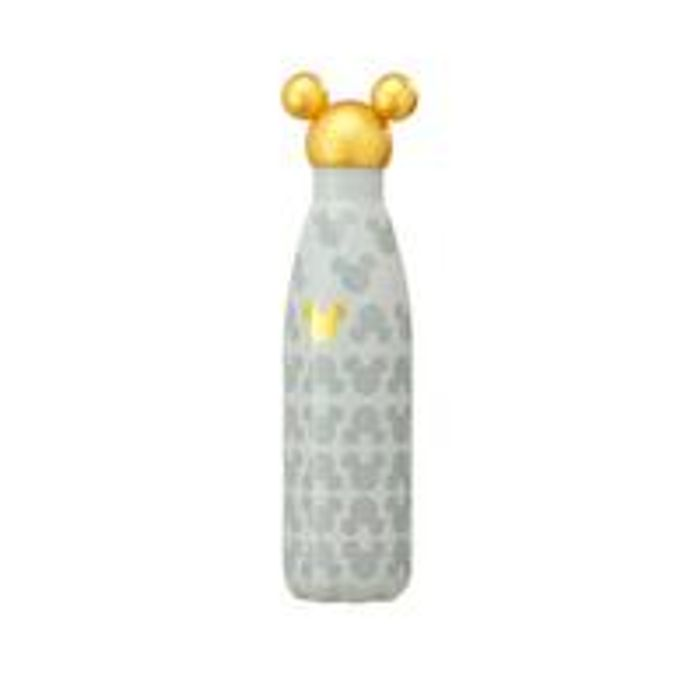 Mickey Mouse Gold Head Metal Water Bottle