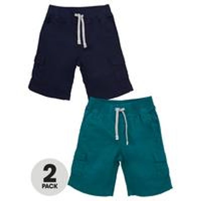 V by Very Boys 2 Pack Cargo Shorts - Multi