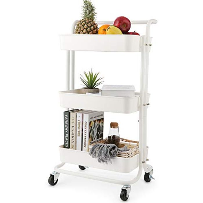 3-Tier Rolling Utility Cart / Storage Shelves