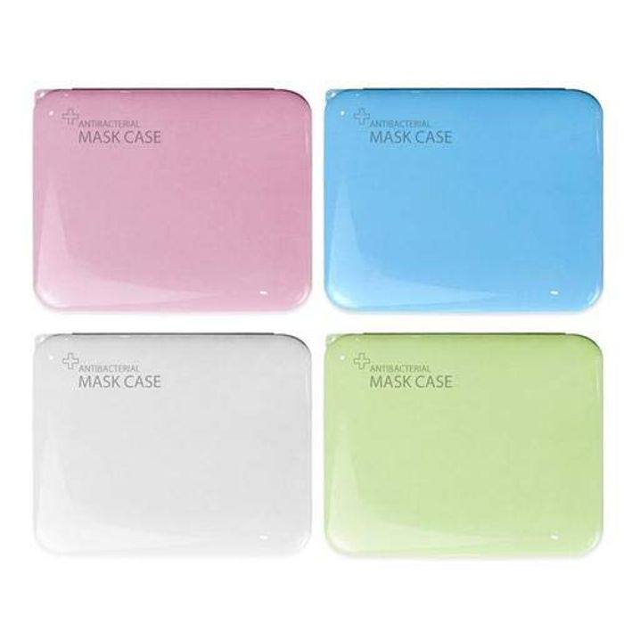 4 Pcs Storage Box for Disposable Mask, PP Silver Ion Disinfection
