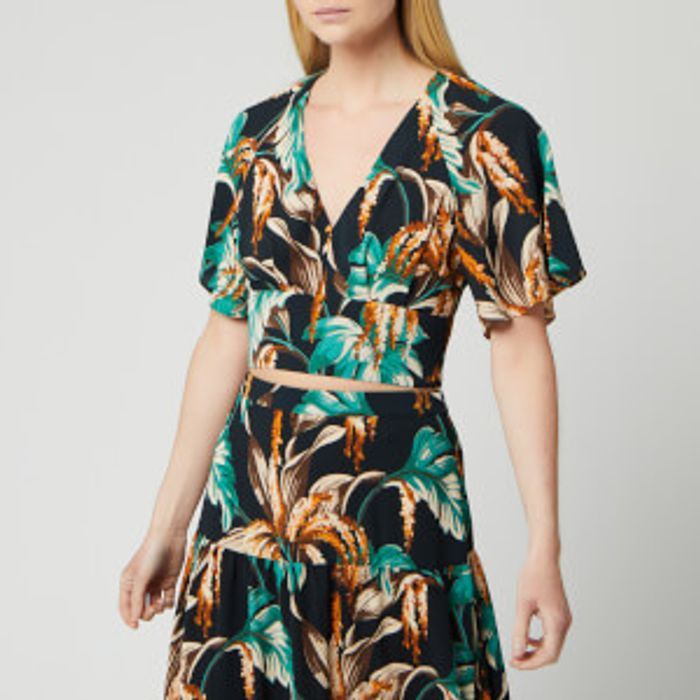 Whistles Women's Tropical Floral Top - Green/Multi