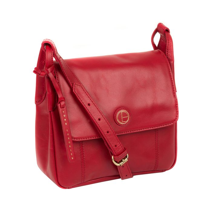 Pure Luxuries London - Vintage Red 'Houghton' Leather Cross Body Bag
